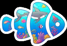 My First fish Tank Sticker Logo